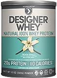 Designer Whey Premium Natural 100% Whey Protein, French Vanilla, 12 Ounce