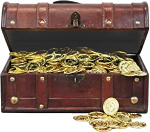 Pirate Treasure Chest with 114 Coins