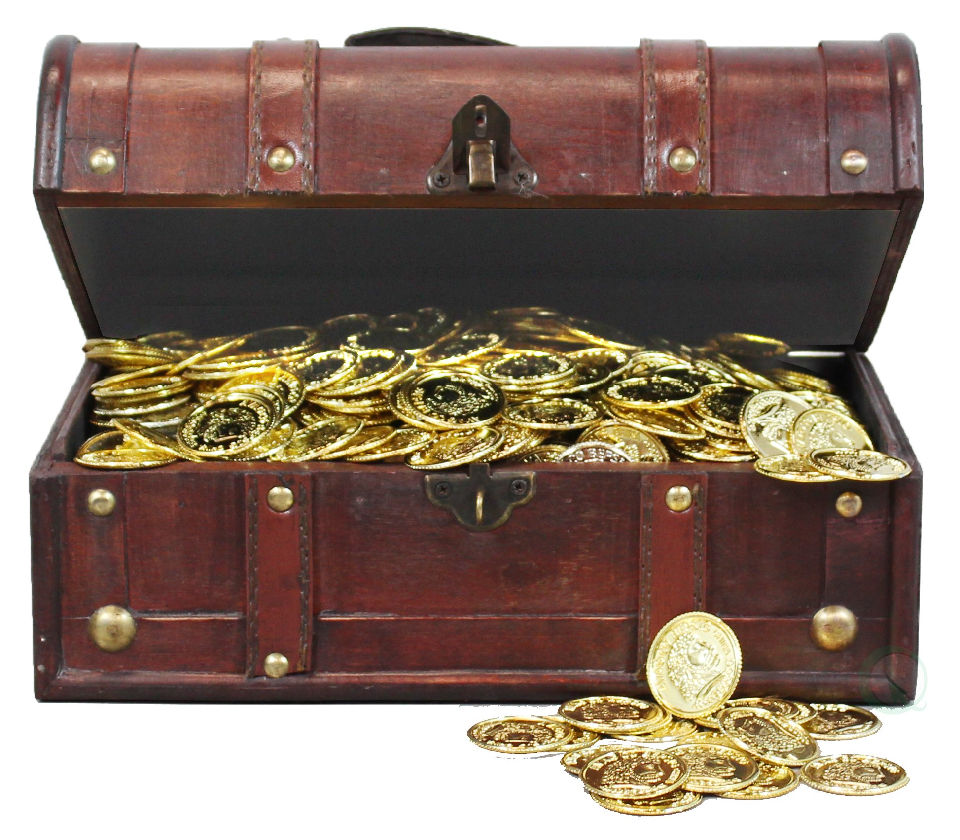 Pirate Treasure Chest with 114 Coins by Decorative Gifts