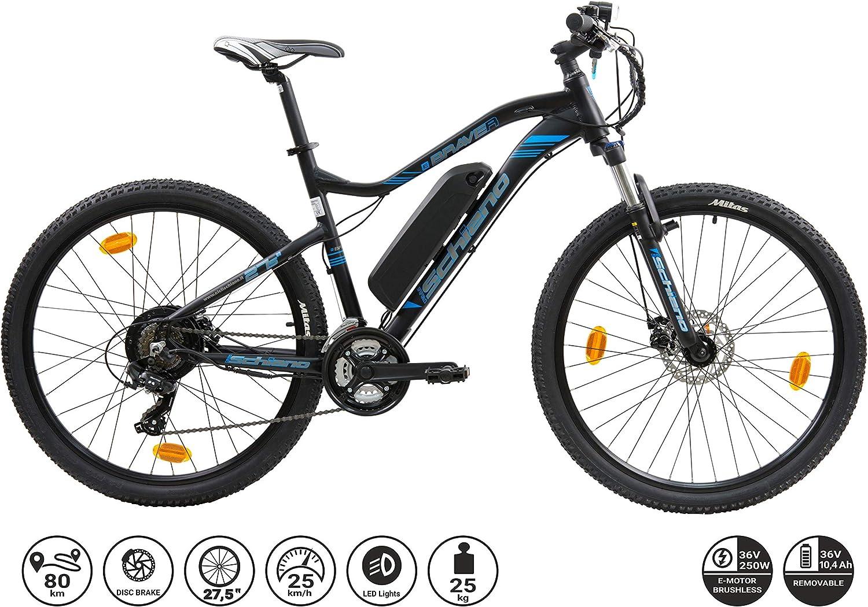 F.lli Schiano Braver Bicicleta eléctrica, Adultos Unisex, Negro ...