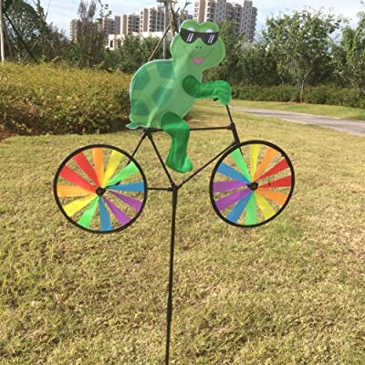 BCHZ Colorful Animal on Bike Windmill, Garden/Lawn/Yard Decor: Toys & Games