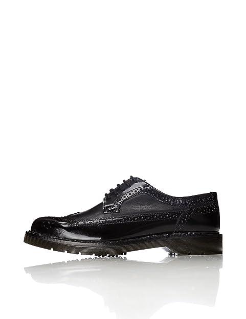 Find Zapatos de Cuero con Cordones para Hombre, Negro (Black), 40 EU