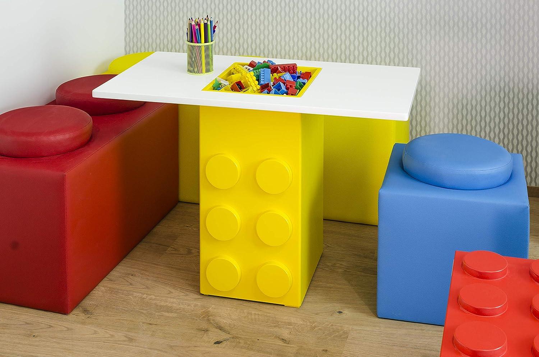 Brickz - Mesa de Juego para fanáticos de los Legos (90 x 50 cm ...