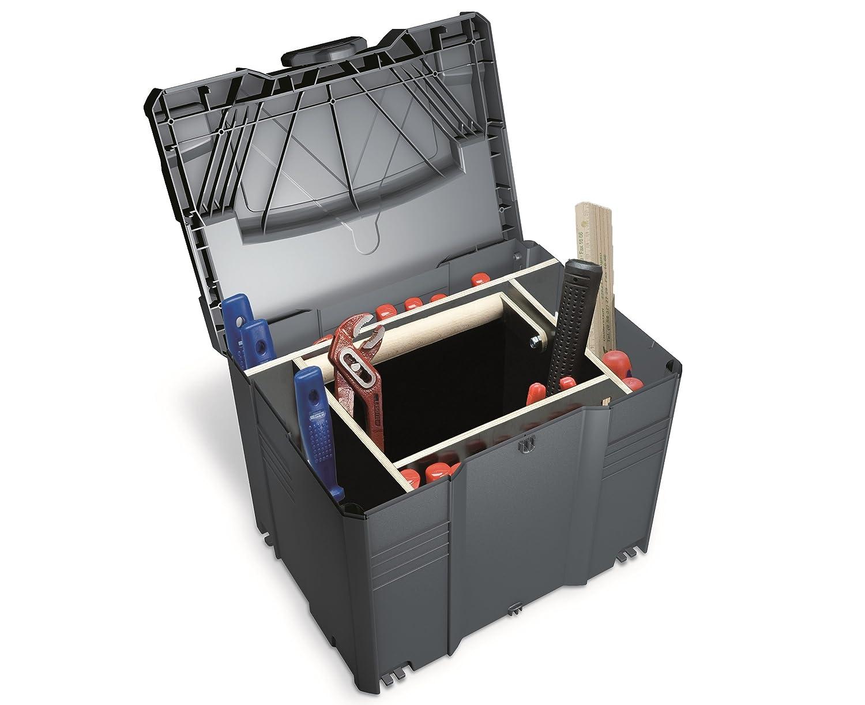 Koffersystem, stapelbar, Werkzeugkoffer TANOS Systainer T-Loc Gr 2 anthrazit