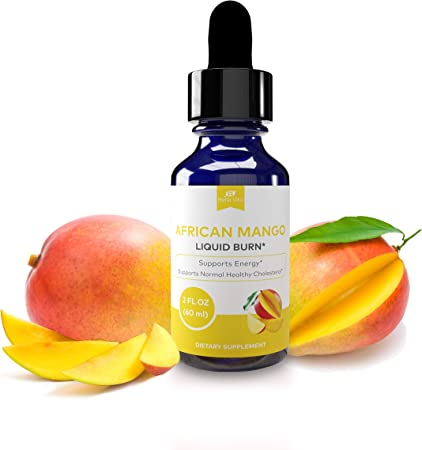 Bella Vita African Mango Liquid Burn Droplets, Metabolism Support, Cholesterol Support, Non-GMOs, FDA Registered Facility, GMP Quality, USA Made, (2 Oz) (New to Platform)