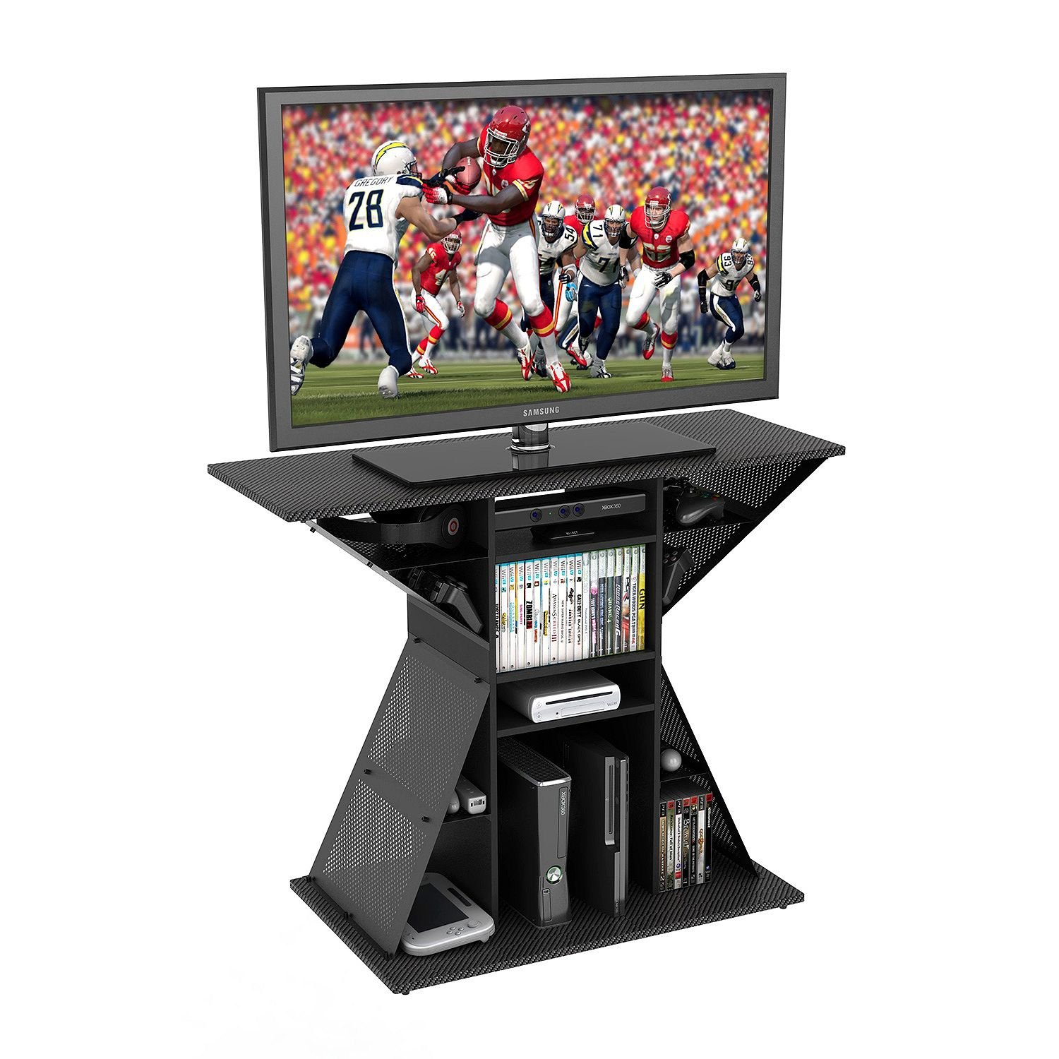 TV Video Game Stand, Gaming Storage Rack Hub Console for 42 , Xbox, PS3, PS4. Perfect Size For Any Living Room Or Bedroom In Your Home.