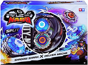 Infinity Nado Split Series Duel Pack Battling Metal Top Game Shadow Shark & Delver Mecha
