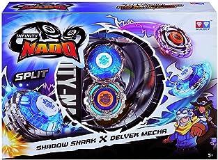 Infinity Nado Split Series Duel Pack Battling Metal Top Game Shadow Shark and Delver Mecha