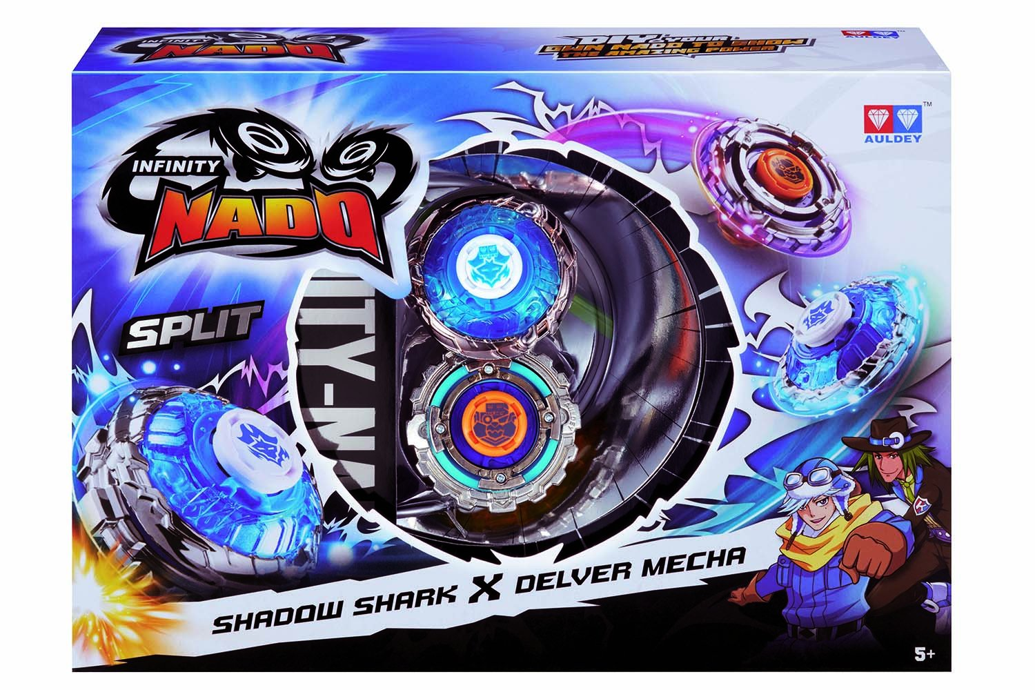 Infinity Nado Split Series Duel Pack Battling Metal Top Game Shadow Shark Delver Mecha