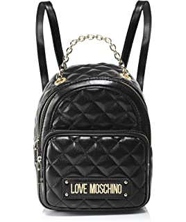 Love Moschino Women s Quilted Nappa Pu Backpack Handbag 1fccf0e6c0a