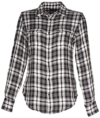 61b7b9b6 Amazon.com: Polo Ralph Lauren Women's Western Plaid Shirt-Black ...