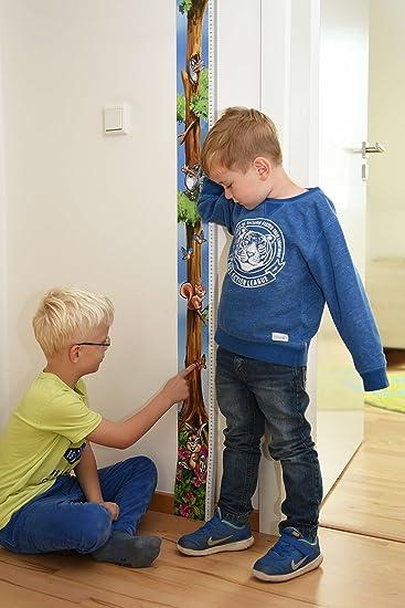 Messlatte Eule // Vogel // Baum als Massband T/ürrahmen oder Messskala Kinder f/ür die Wand von 0 cm bis fast 2m die K/örpergr/ö/ße messen Motiv Eulen . M/ädchen und Jungen Messleiste f/ür Kinder 1 St/ück.