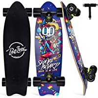 BELEEV Cruiser Skateboard, 68,5 x 20,3 cm, monopatín Completo para niños, Adolescentes y Adultos, 7 Capas de Arce…