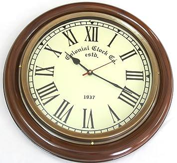 Buy Artshai BIG 16 inch Wall clock AntiqueVintage look Brass