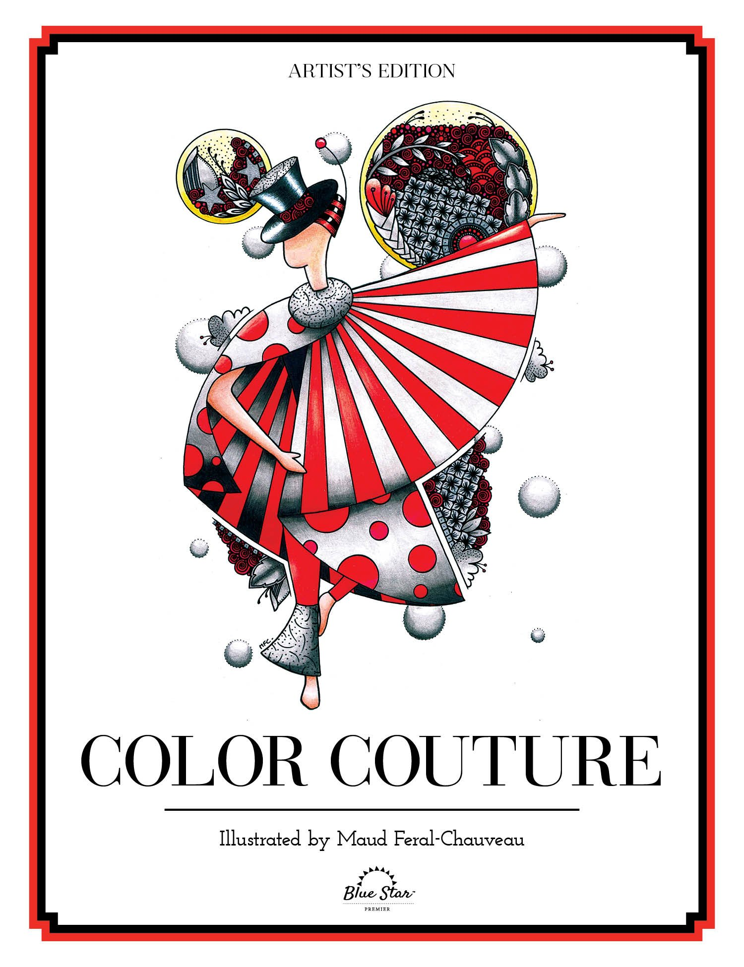 Amazon.com: Color Couture: A Stress Relieving Adult Coloring Book ...