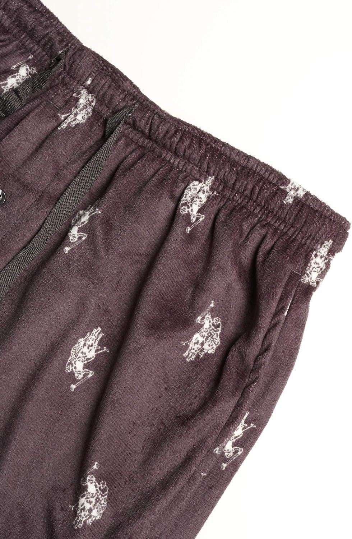 U.S Mens Ultra Soft Fleece Plaid Pajama Lounge Pants Polo Assn