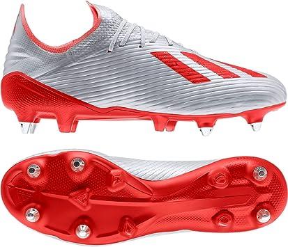 adidas X 19.1 SG Silber Rot: : Sport & Freizeit