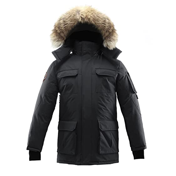 Triple F.A.T. Goose Chenega Mens Goose Down Jacket Parka with Real ...