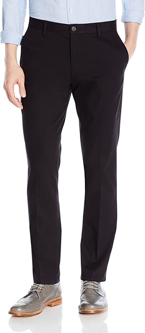 MENS NAVY COTTON STRETCH SLIM FIT COMFORTABLE STRETCHY SAFETY WORK PANTS