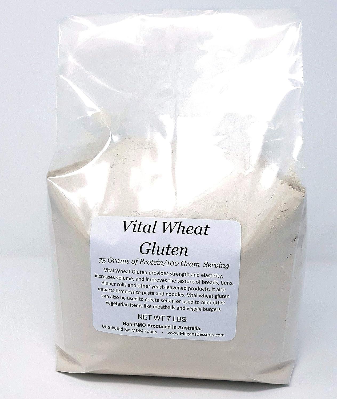 Vital Wheat Gluten - 7 lbs - 112 Oz. Non-GMO Imported from Australia