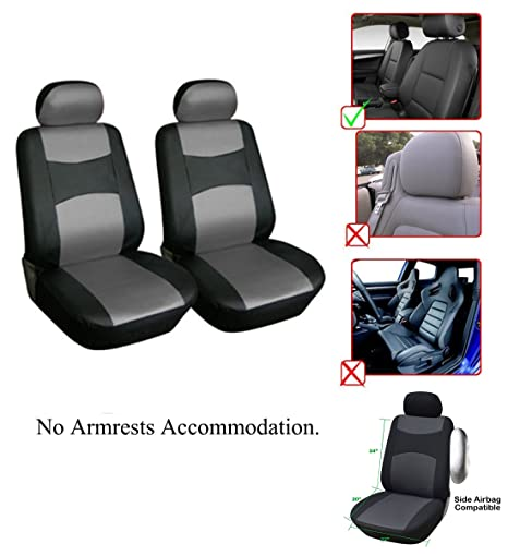 Vinyl Leather 2 Front Car Seat Covers Compatible To Jeep Patriot LL1510