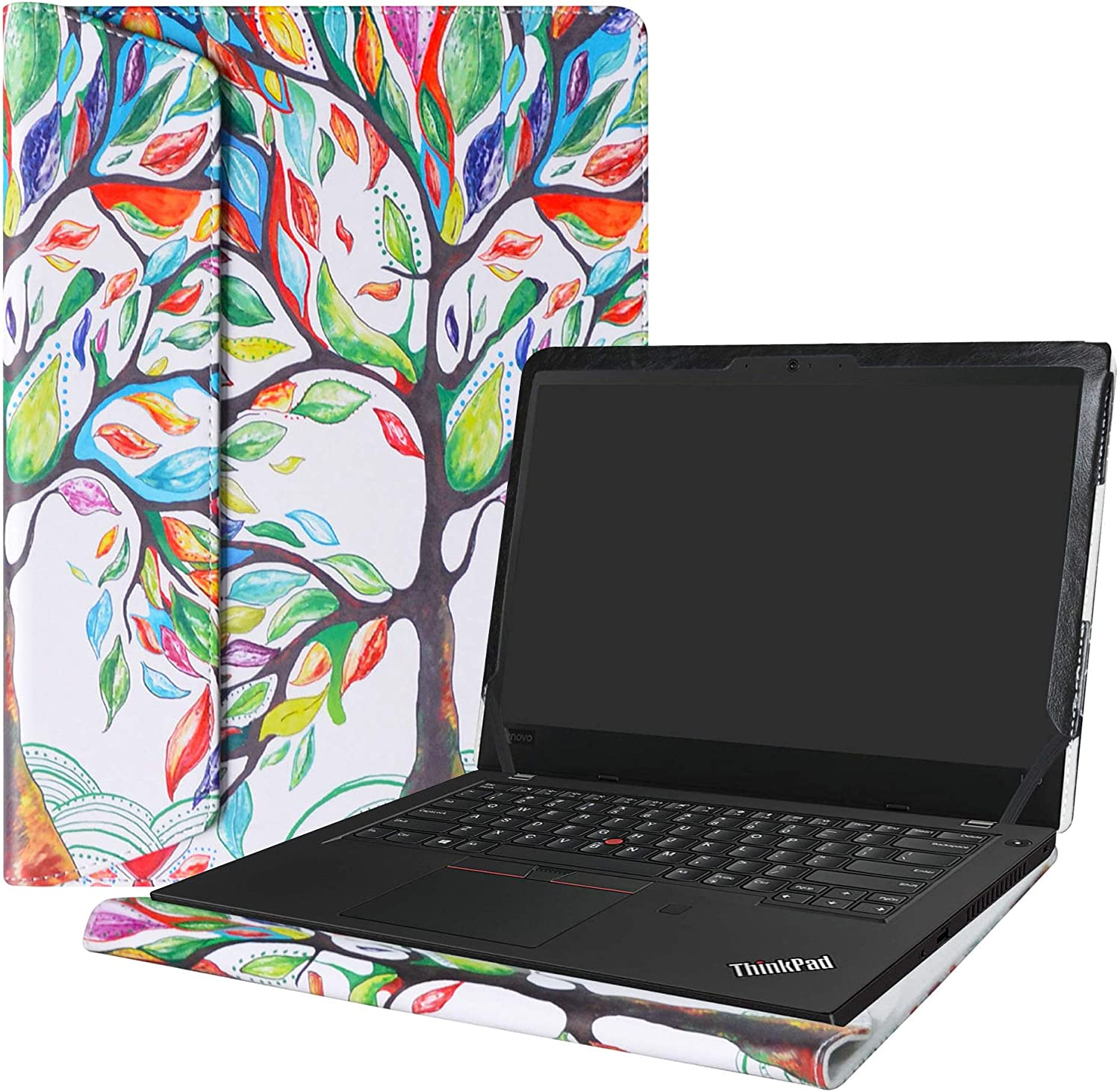 "Alapmk Protective Case Cover for 14"" Lenovo ThinkPad L480 L490 Series Laptop(Warning:Not fit thinkpad L470 L460 L450),Love Tree"