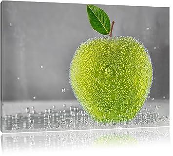 Apfel in Wasser grüner Apfel Obst Früchte Format: 60x40 cm auf ...