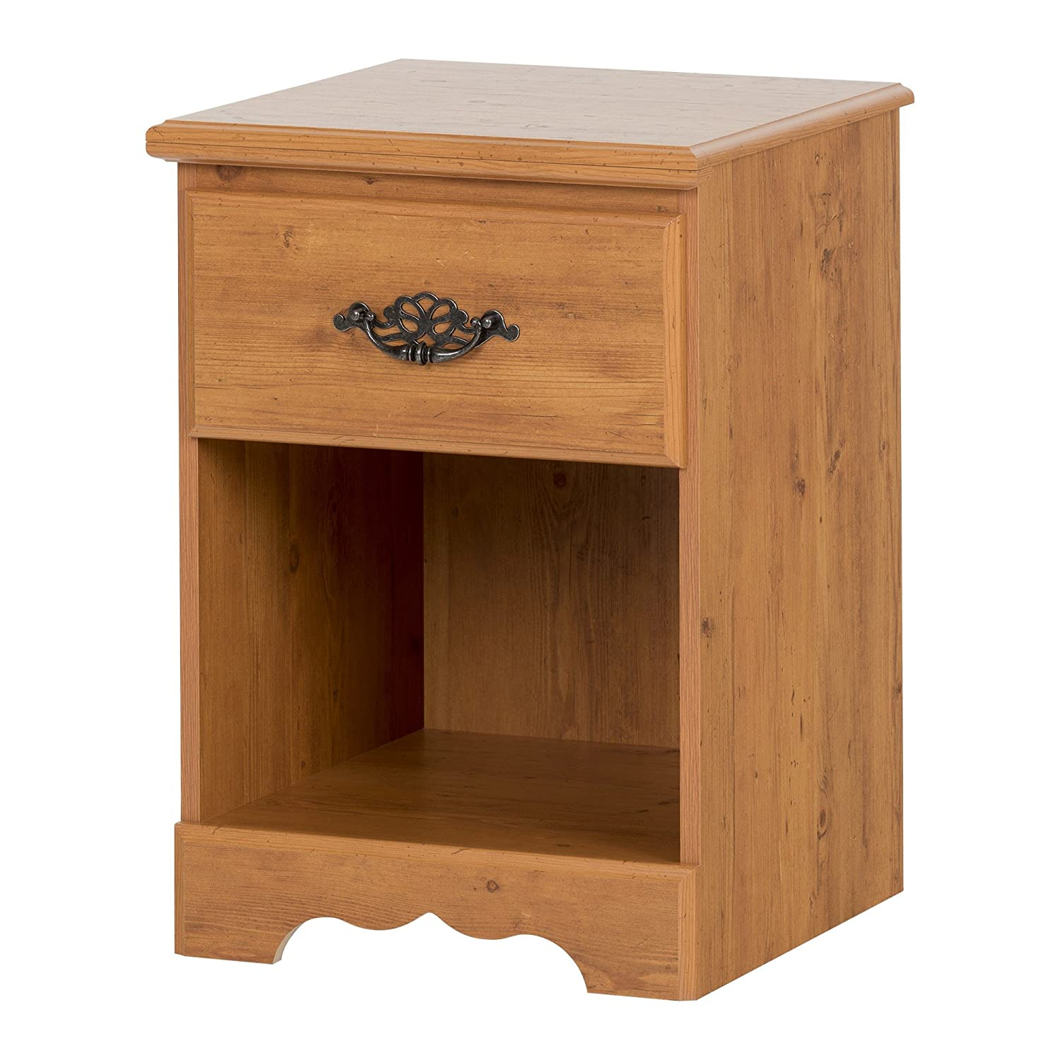 South Shore Furniture Prairie Collection, Night Table with open case, Country Pine 3232062