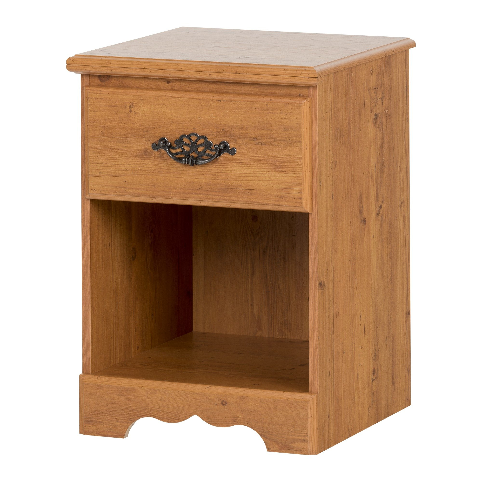South Shore Prairie Collection Nightstand, Country Pine with Antique Handles by South Shore