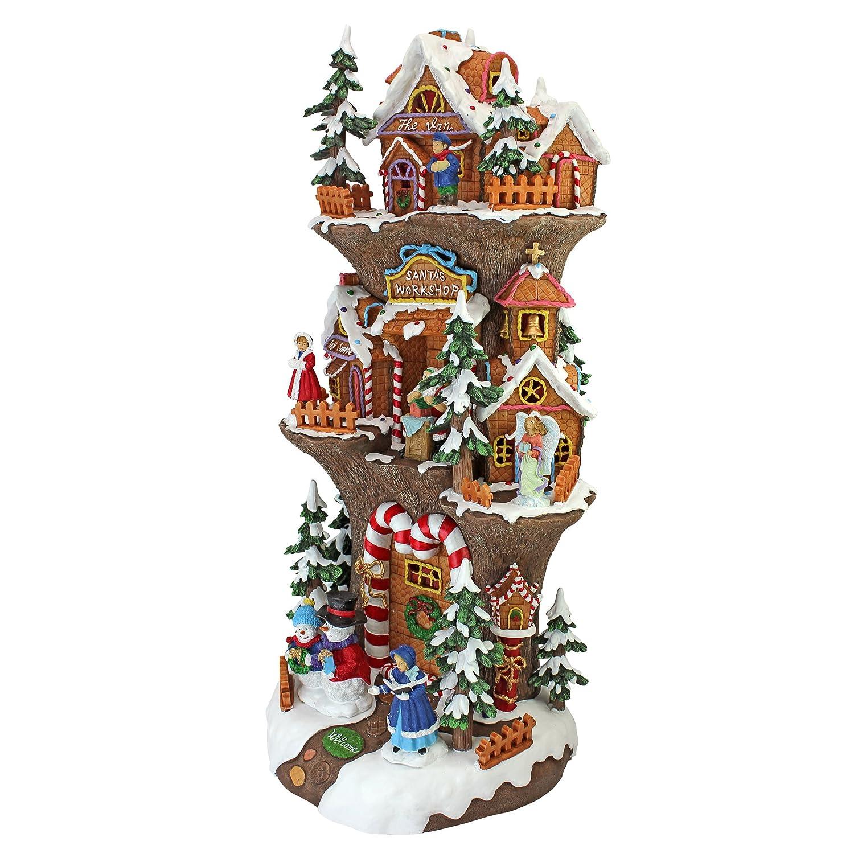 Christmas Village - Santas Workshop at the North Pole Illuminated ...
