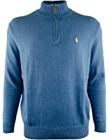 Polo Ralph Lauren Men's Big & Tall Half Zip Mock Neck Sweater