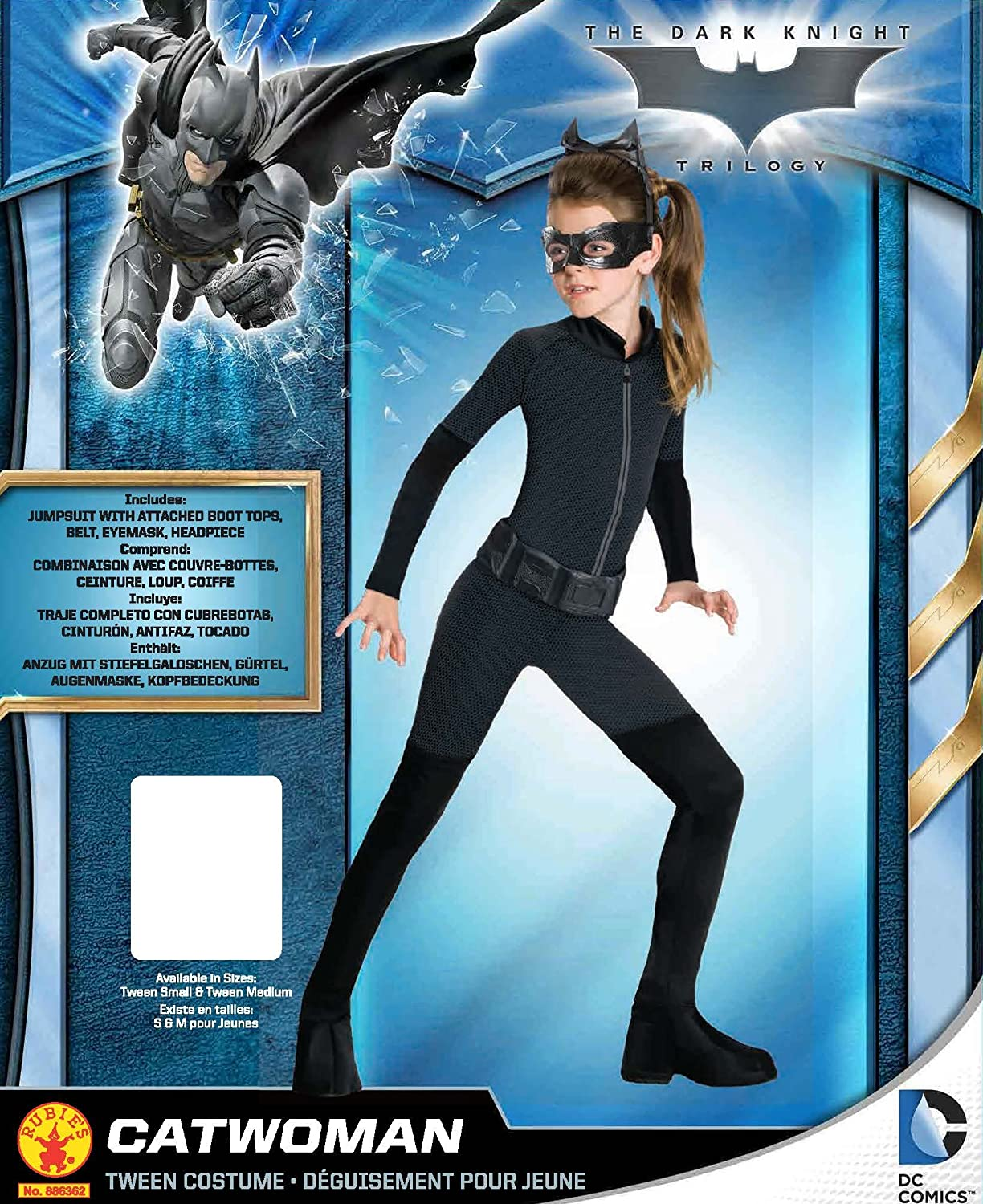 Rubies Official DC Comics Batman Catwoman, Children Costume - Tween small