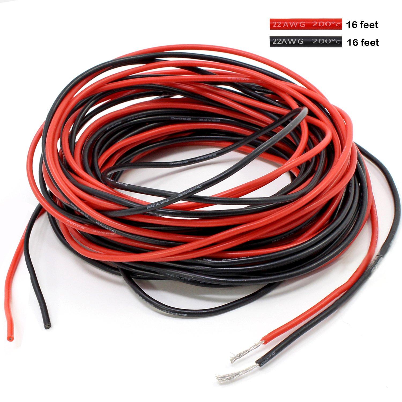 PsmGoods® 32 Füße 22 Gauge Silikon Draht: Amazon.de: Elektronik