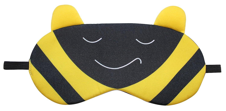 Nido Nest Sleep Eye Mask for Kids - Travel, Airplanes, Cars, Sleeping, Naps, Gifts - Toddler, Preschool, Elementary Children - Bumblebee