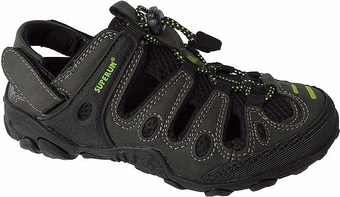 Damen Outdoor Sandale Schuhe Sandalette Trekking Gr.36-41 Art.Nr.5337 Schwarz-Fuchsia (36) SK500Z4crV