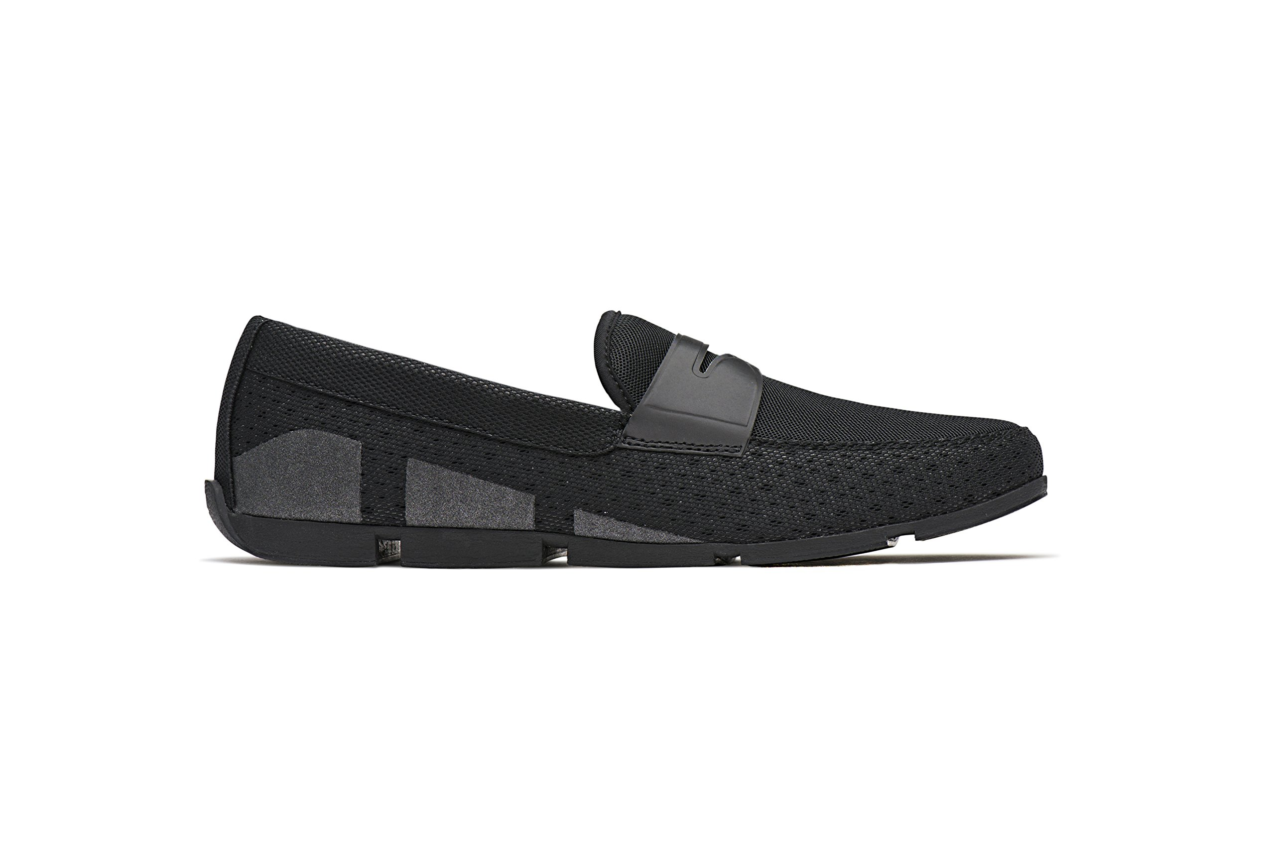 SWIMS Men's Breeze Penny Loafer For Pool and Summer, Lightweight & Flexible - Black, 10