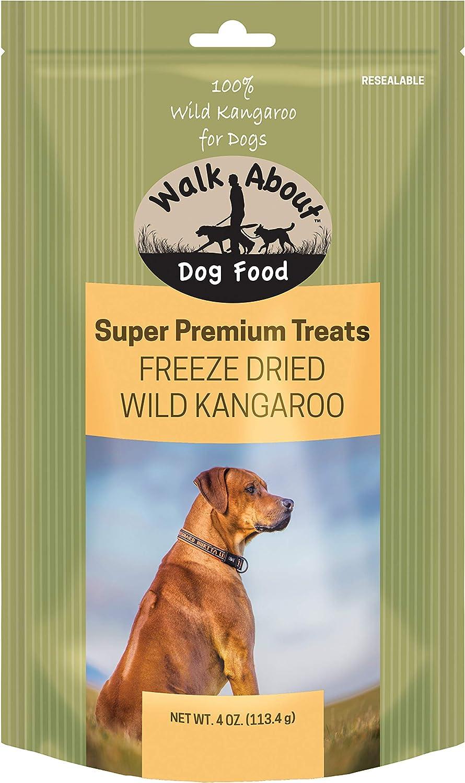 Walk About Pet, WA10025, Super Premium Dog Treats, Grain-Free, Gluten-Free, Single Source Protein, Freeze-Dried Kangaroo, Resealable Pouch, 4-Ounces