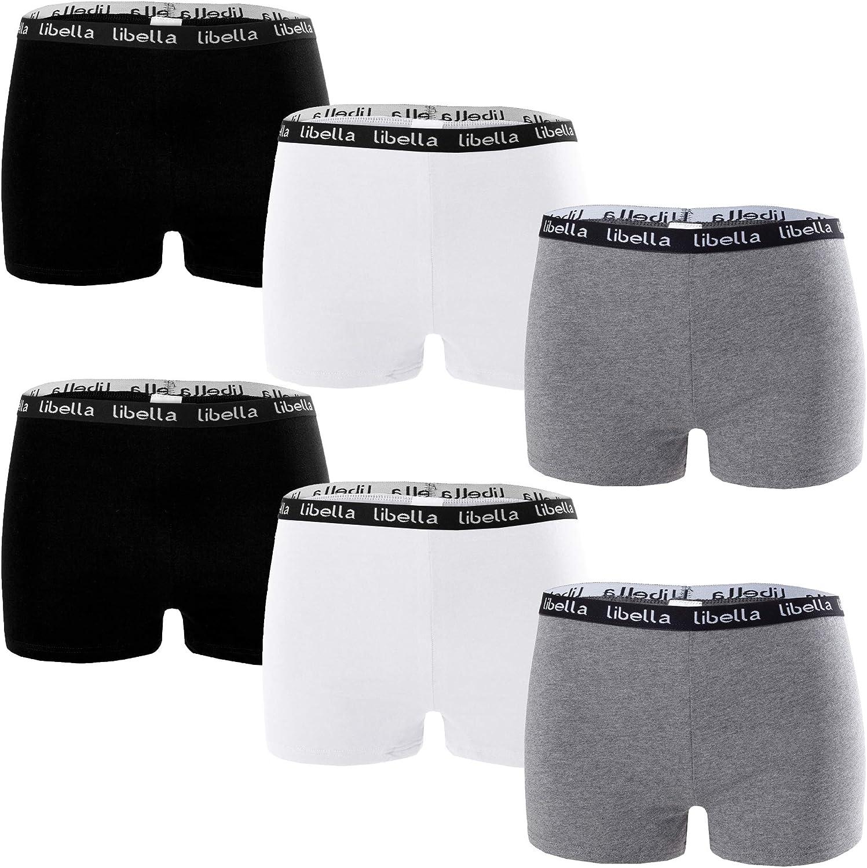 Libella/® Panties Boxershorts Damen 6er Pack Hipsters Unterhose Unterw/äsche Set Baumwolle 3407