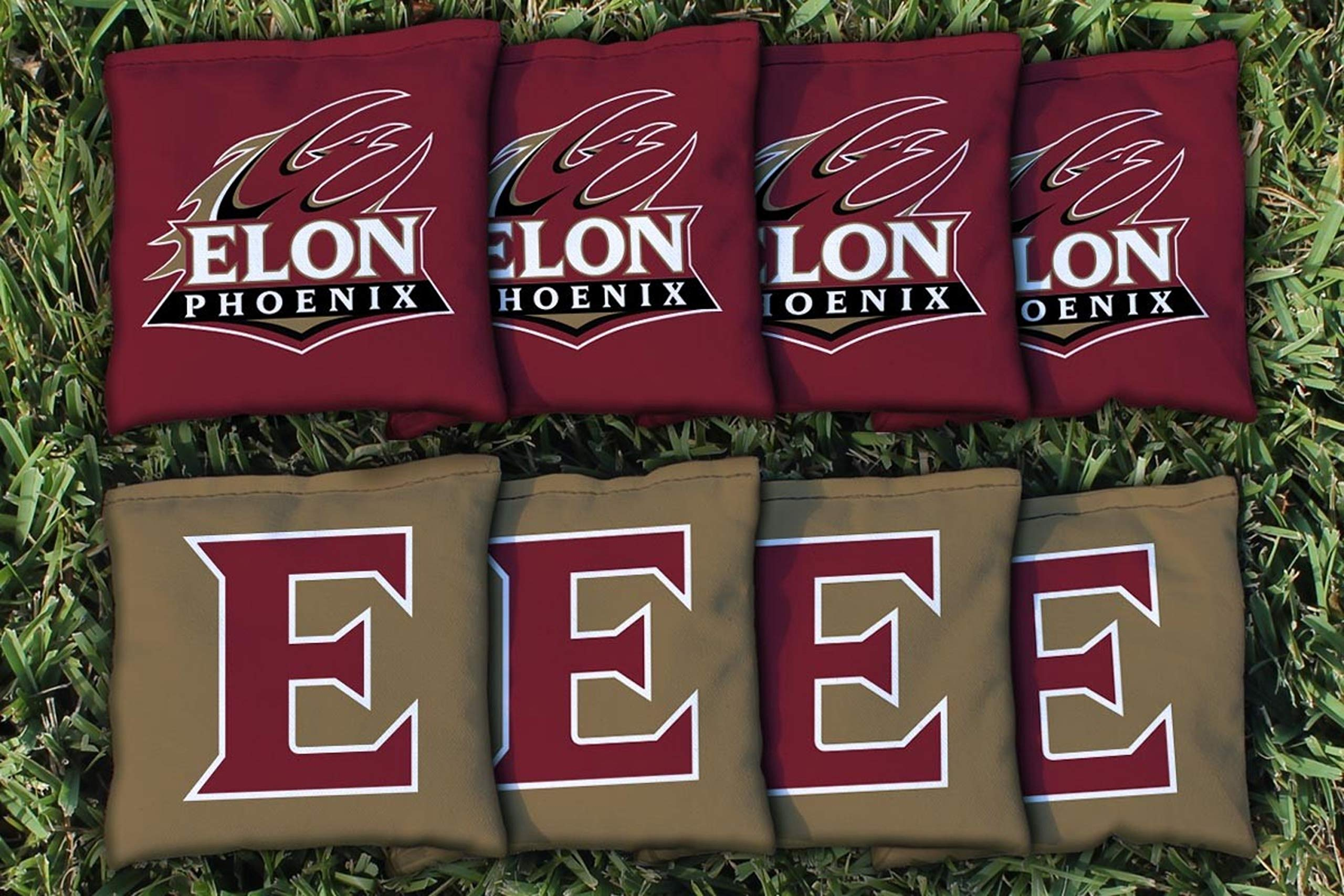 Victory Tailgate NCAA Collegiate Regulation Cornhole Game Bag Set (8 Bags Included, Corn-Filled) - Elon Phoenix by Victory Tailgate