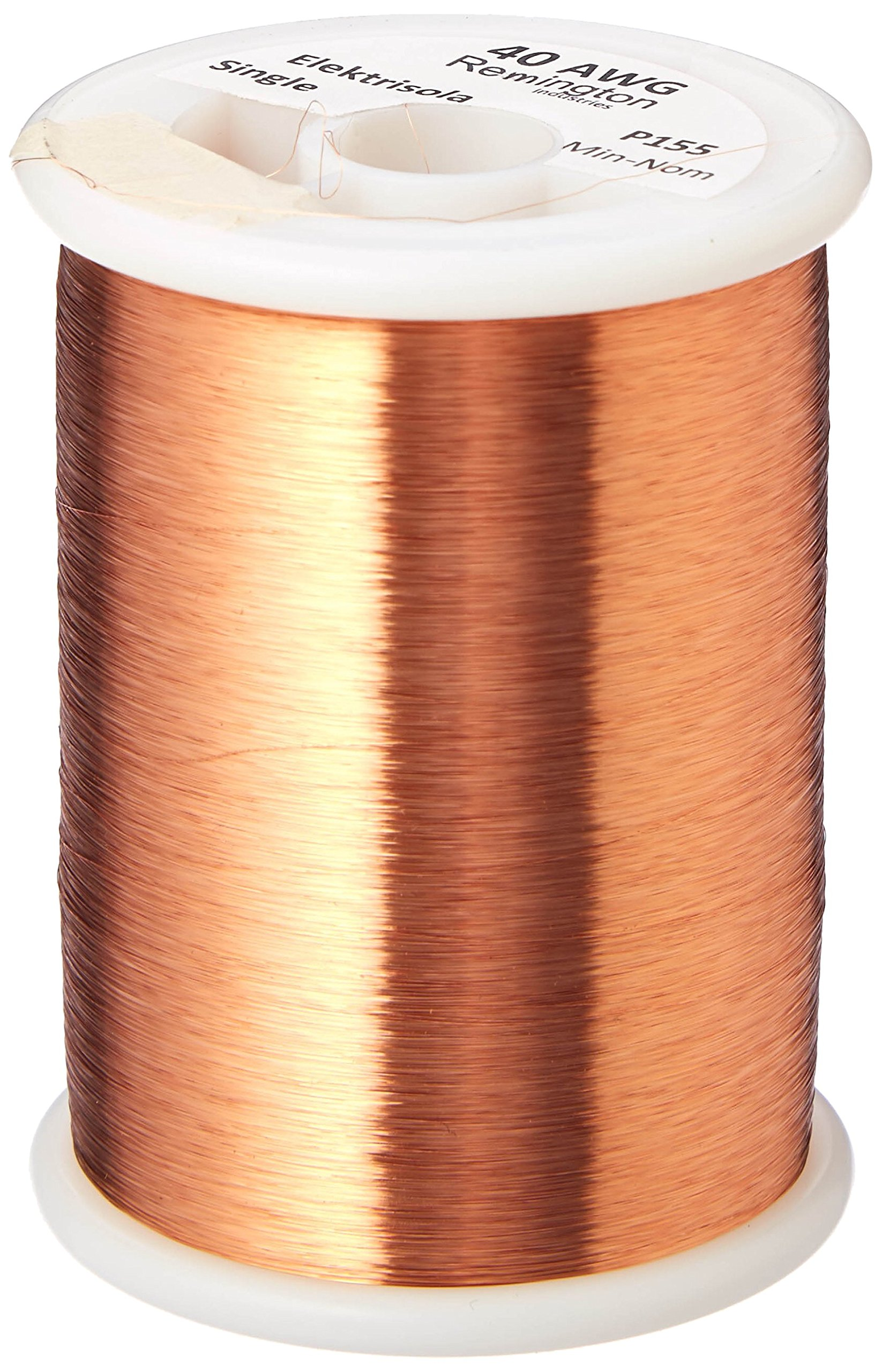 Remington Industries 40SNSP 40 AWG Magnet Wire, Enameled Copper Wire, 1.0 lb, 0.0034'' Diameter, 33217' Length, Natural