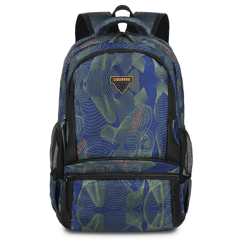 Gywon Laptop Bag Backpack Schoolbag Travel Hiking Multipurpose Daypacks Satchel Fits 13 inch Notebook Blue
