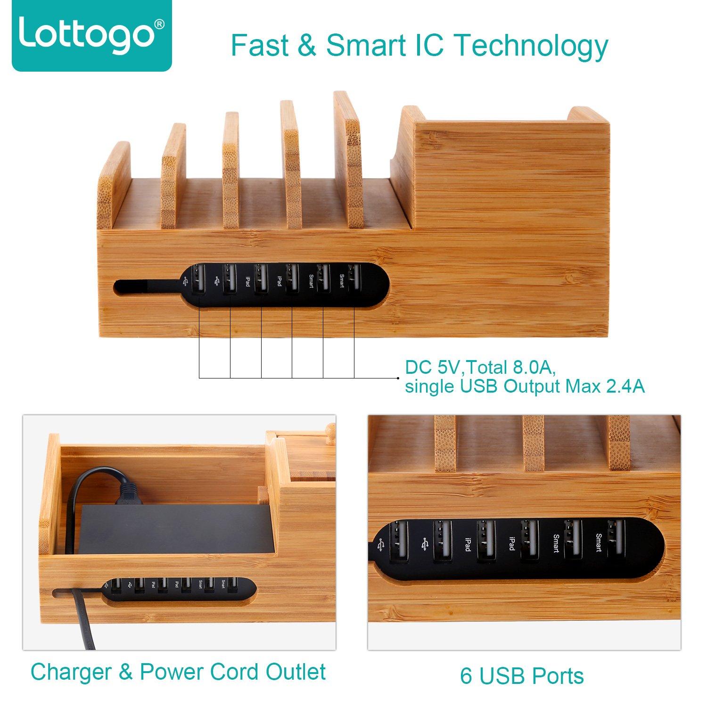 Amazoncom Lottogo Charging Station with 6 port 40W