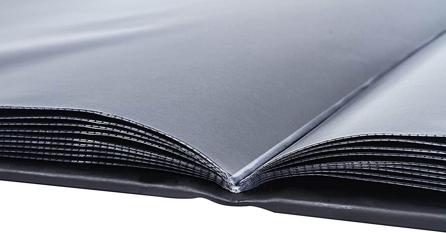 The Model Shop Portfolio Book 20 Pages for 40 Views Silver Brushed Metallic Vienna, 9 x 12