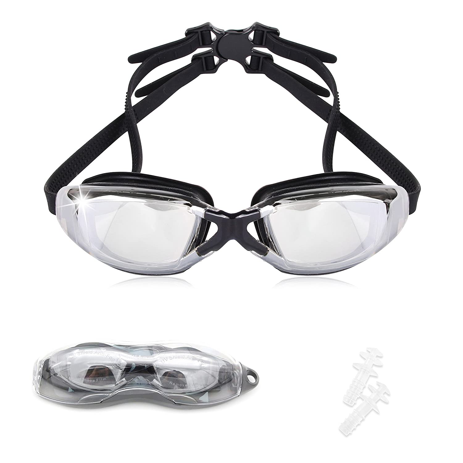 68b973e868 HOTER® Fashion Electroplated Corrective Myopic Optical Swim Goggle (Diopter  -1.5 to -9.0)