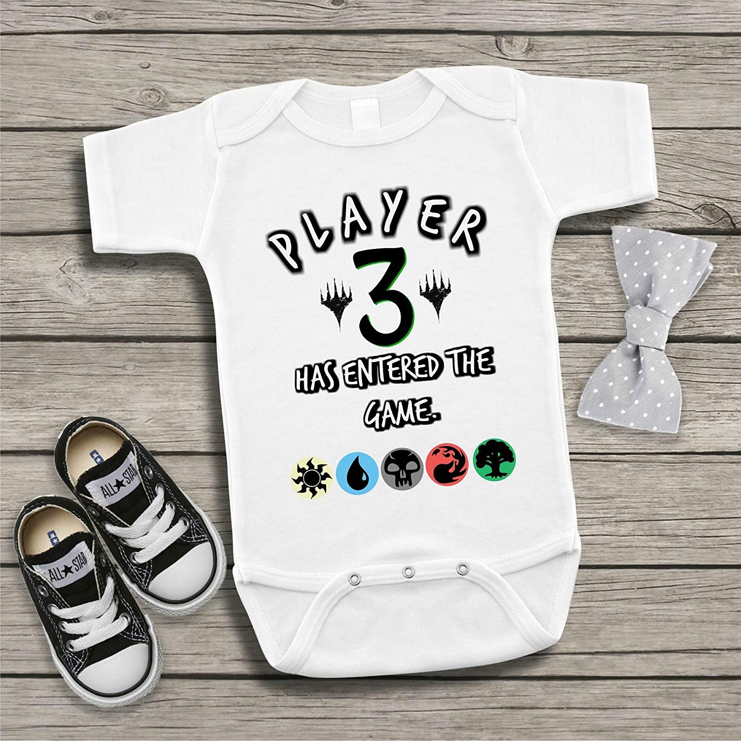 a4a8016e5873 Amazon.com  Magic the Gathering MTG Funny Baby Bodysuit Player 3 Has ...