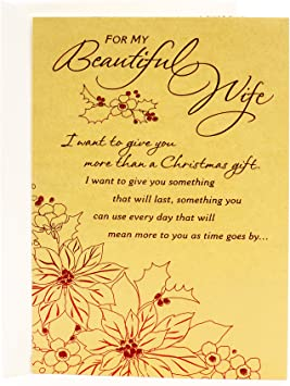 Amazon Com Hallmark Mahogany Christmas Card For Wife I Want To Give You Office Products
