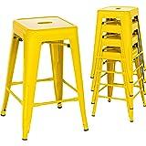 Amazon Com Tabouret 24 Inch Lemon Metal Counter Stools
