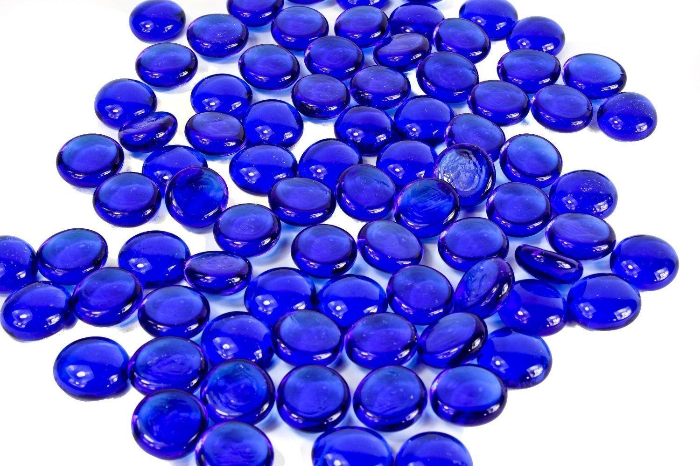 Dashington trade; 5 Pounds-flat Cobalt Glass Marbles for Vase Filler, Table Scatter, Aquarium Decor