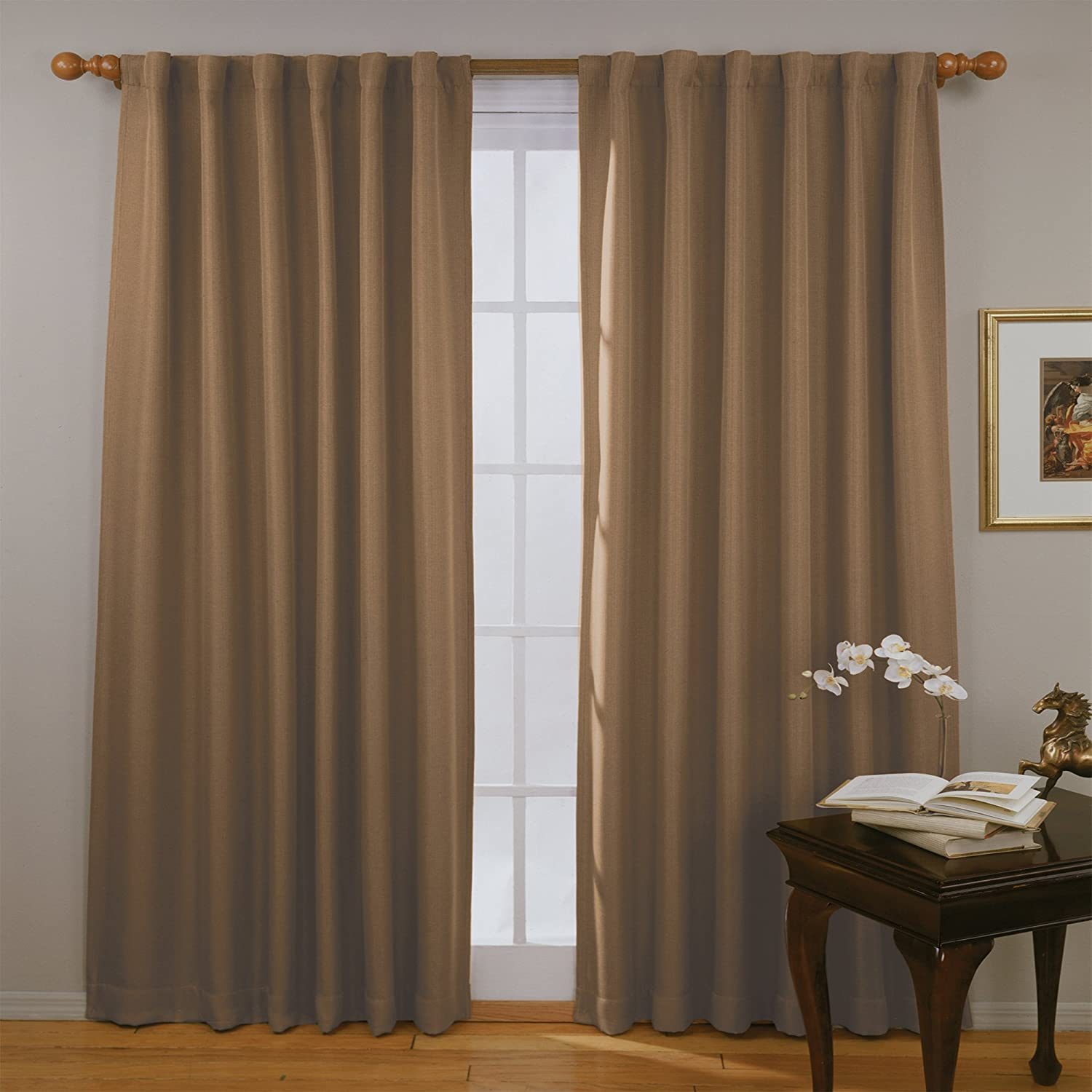 Eclipse Fresno Blackout Window Curtain Panel, 63, Mushroom 63 Ellery Homestyles 11353052063MSH