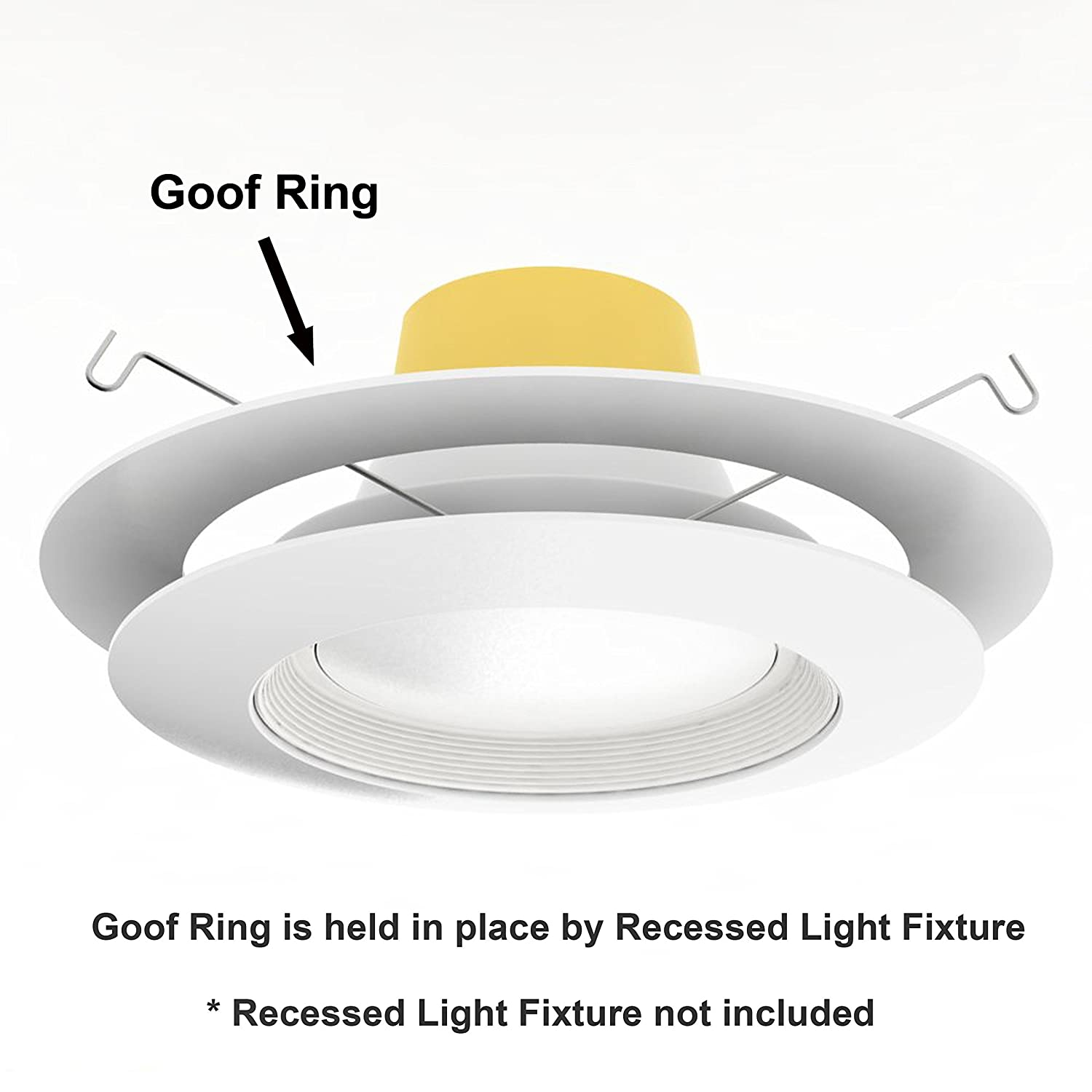 5 pack white goof ring trim ring for recessed can and 6 inch down 5 pack white goof ring trim ring for recessed can and 6 inch down light over amazon mozeypictures Images